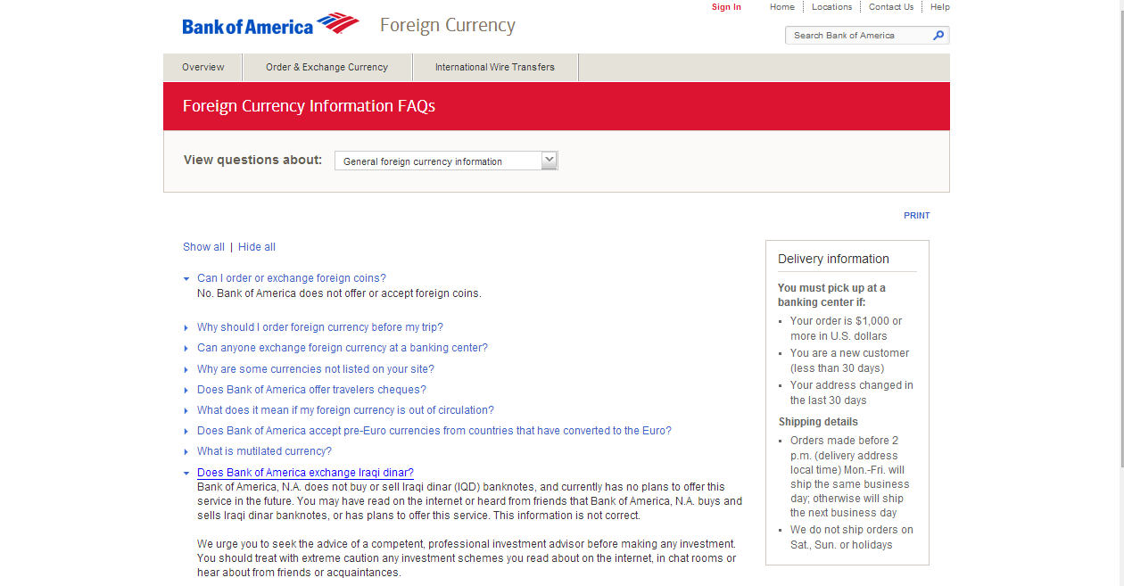 Your foreign currency is ready when you are. Bank of America helps you with your foreign currency needs. Use our secure, convenient, online service to: Sign in and purchase up to $10, of foreign currency a month. Check daily foreign currency banknote exchange rates. Calculate the value of your currency before you exchange money.